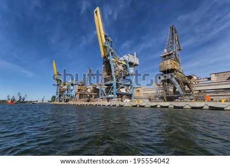 Port crane in Gdansk, Poland - stock photo
