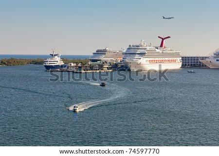 Port Everglades in Fort Lauderdale, Florida - stock photo