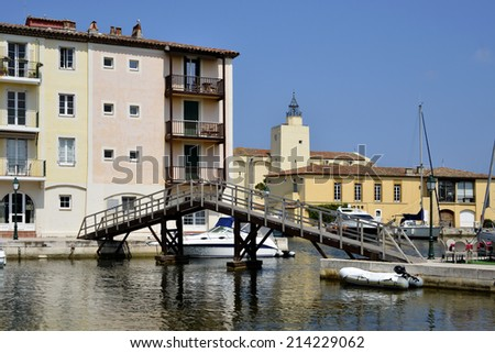 Port Grimaud in the Var department on the French Riviera - stock photo