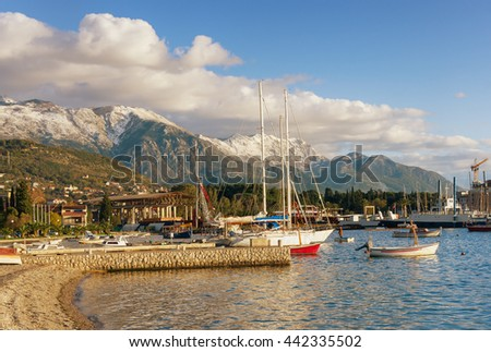 Port in Tivat city. Montenegro