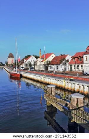 Port  in Ueckermuende - stock photo
