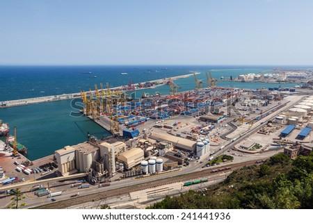 Port of Barcelona - stock photo