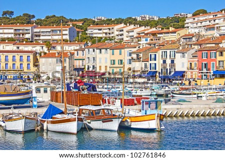 Port of Cassis, south of France - stock photo