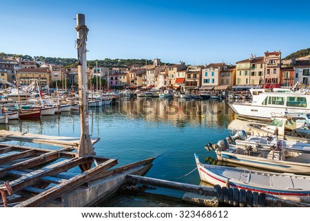 Port of Cassis, south of France, Europe - stock photo