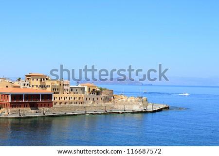 Port of Chania, Crete, Greece - stock photo