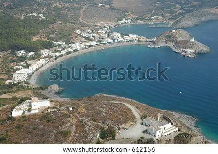 Port of Kapsali, Kythera, Greece - stock photo