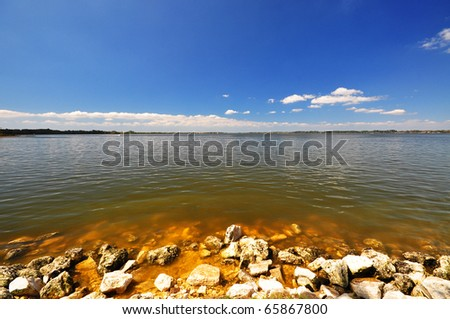 Port of Mount Dora - a nice day - stock photo