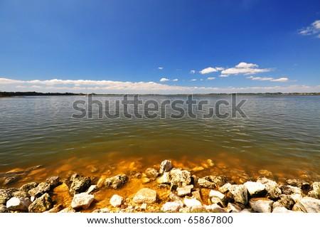 Port of Mount Dora - a nice day - stock photo