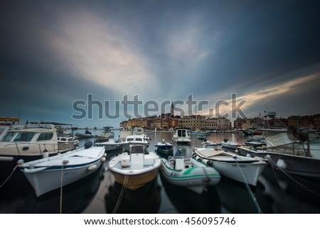 Port of Rovinj, Croatia - stock photo