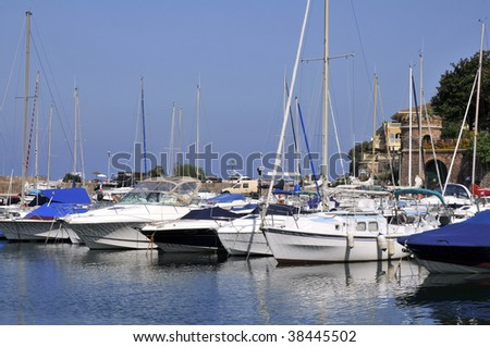 Port of  Theoule sur mer in southeastern france, department Alpes Maritimes