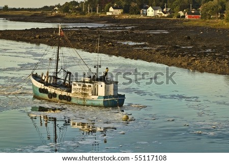 Port Royale Scallop Boat - stock photo