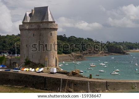 Port Solidor and the Solidor tower, Saint Malo, France - stock photo