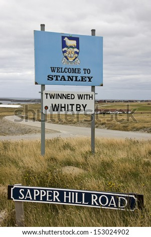 Port Stanley in the Falkland Islands (Islas Malvinas)