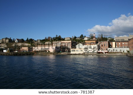 Port Townsend Washington Waterfront Landscape