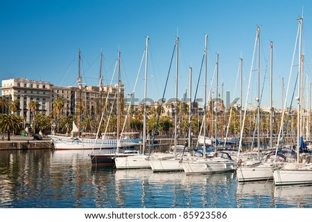 Port Vell in Barcelona - stock photo