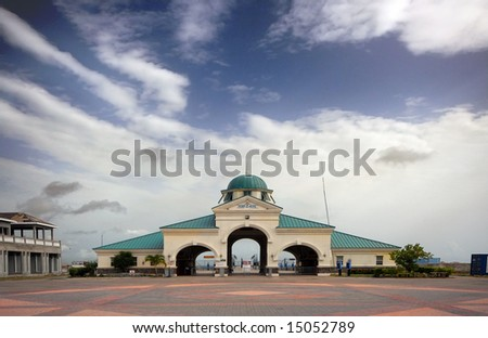 Port Zante, St. Kitts, West Indies - stock photo