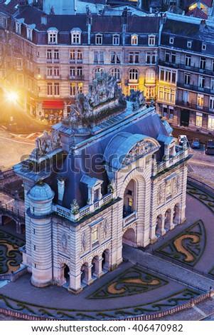 Porta de Paris in Lille. Lille, Nord-Pas-de-Calais, France - stock photo