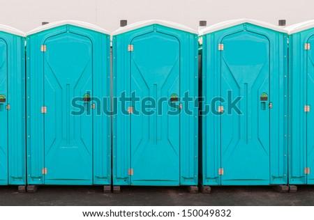 Porta Pottie Line Up - stock photo