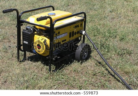 Portable Power Generator for disaster recovery or construction - stock photo