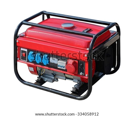 Portable power generator isolated with clipping path included
