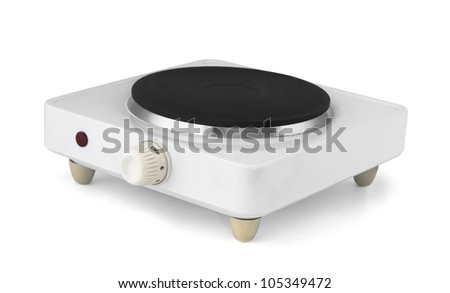 Portable Single Burner Electric Stove Isolated On White