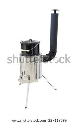 portable stove under the white background - stock photo