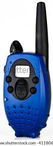 Portable Two Way Handheld Radio Walkie Talkie - stock photo