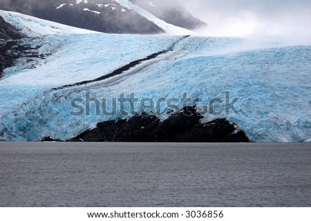 Portage Glacier Alaska - stock photo
