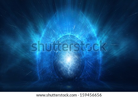 Portal to another world and dimension - stock photo