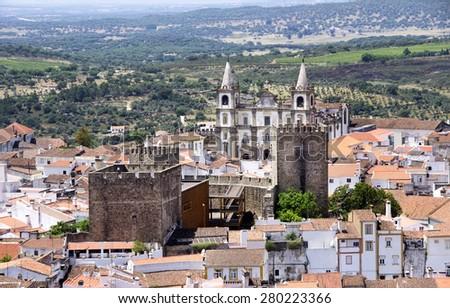 Portalegre city, south of Portugal - stock photo