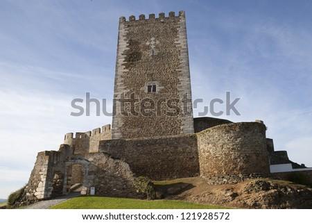 Portel Castle, Portel, Alentejo region, Portugal. - stock photo