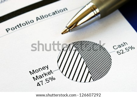 Portfolio allocation - stock photo