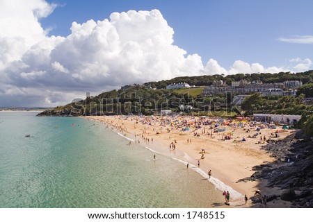 Porthminster beach in St Ives, Cornwall - stock photo