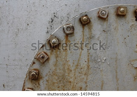 Portion of an oil tank for industrial background