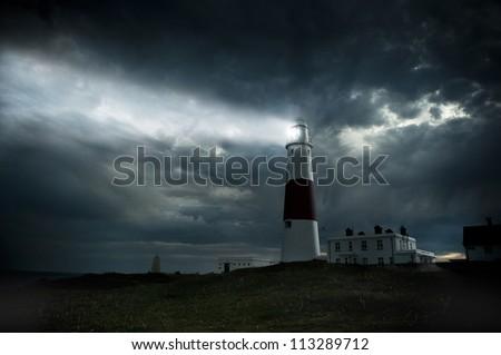 Portland Bill lighthouse - stock photo