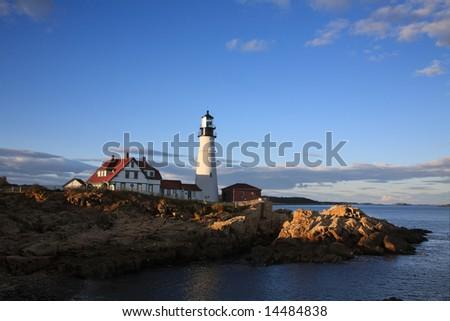 Portland Head Light, Portland Maine - stock photo
