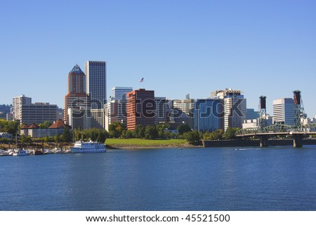 Portland Oregon skyline.