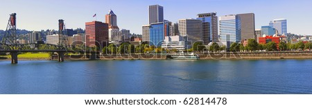 Portland Oregon Skyline, OR. - stock photo