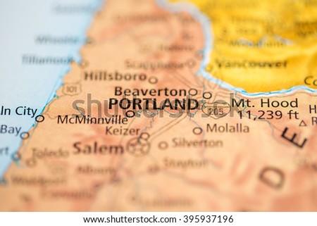 Oregon Map Stock Images RoyaltyFree Images Vectors Shutterstock - Portland oregon usa map