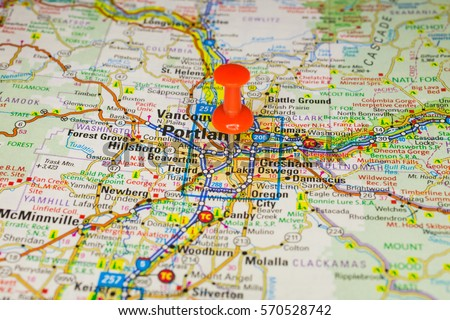 Portland Oregon Map Stock Images RoyaltyFree Images Vectors - Portland usa map
