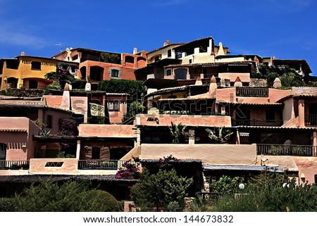 Porto Cervo. Sardinia.  Italy - stock photo
