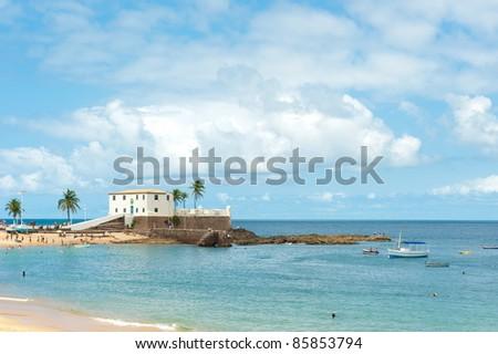 Porto da Barra beach, Salvador - Bahia - Brazil - stock photo