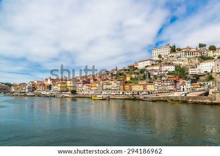 Porto in Portugal in a beautiful summer day
