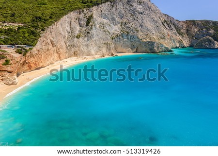 Porto Katsiki beach in Lefkada island (Greece)