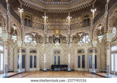 PORTO, PORTUGAL - JULY 02: The Palacio da Bolsa (Stock Exchange Palace) is a historical building on July 02, 2014 in Porto, Portugal