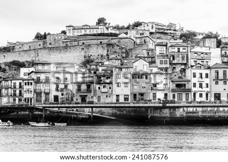PORTO, PORTUGAL - JUN 21, 2014: Valley Douro, UNESCO World Heriatge site. View from the River Douro, one of the major rivers of the Iberian Peninsula (2157 m)