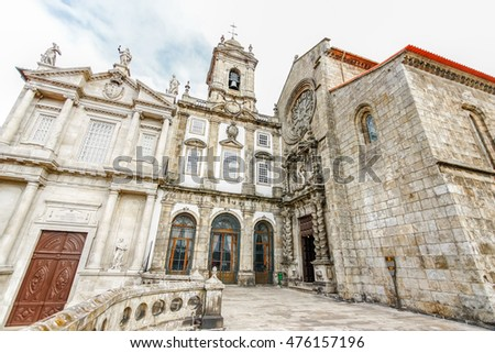 PORTO,PORTUGAL - OCTOBER 21,2012 : Gothic church of Saint Francis Igreja de Sao Francisco in Porto, Portugal