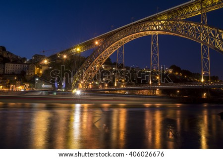 Porto Portugal - Ponte D. Luis - Eiffel  - stock photo