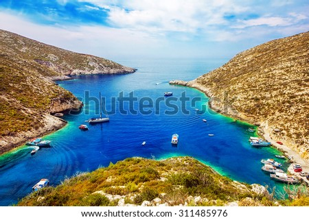 Porto Vromi on Zakynthos island, Greece - stock photo