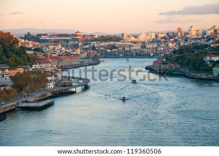 Porto with the Douro river, Portugal - stock photo